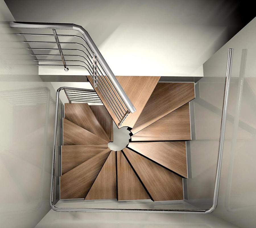 Escaleras de caracol cuadradas rf serveis dise os de - Escaleras de caracol economicas ...