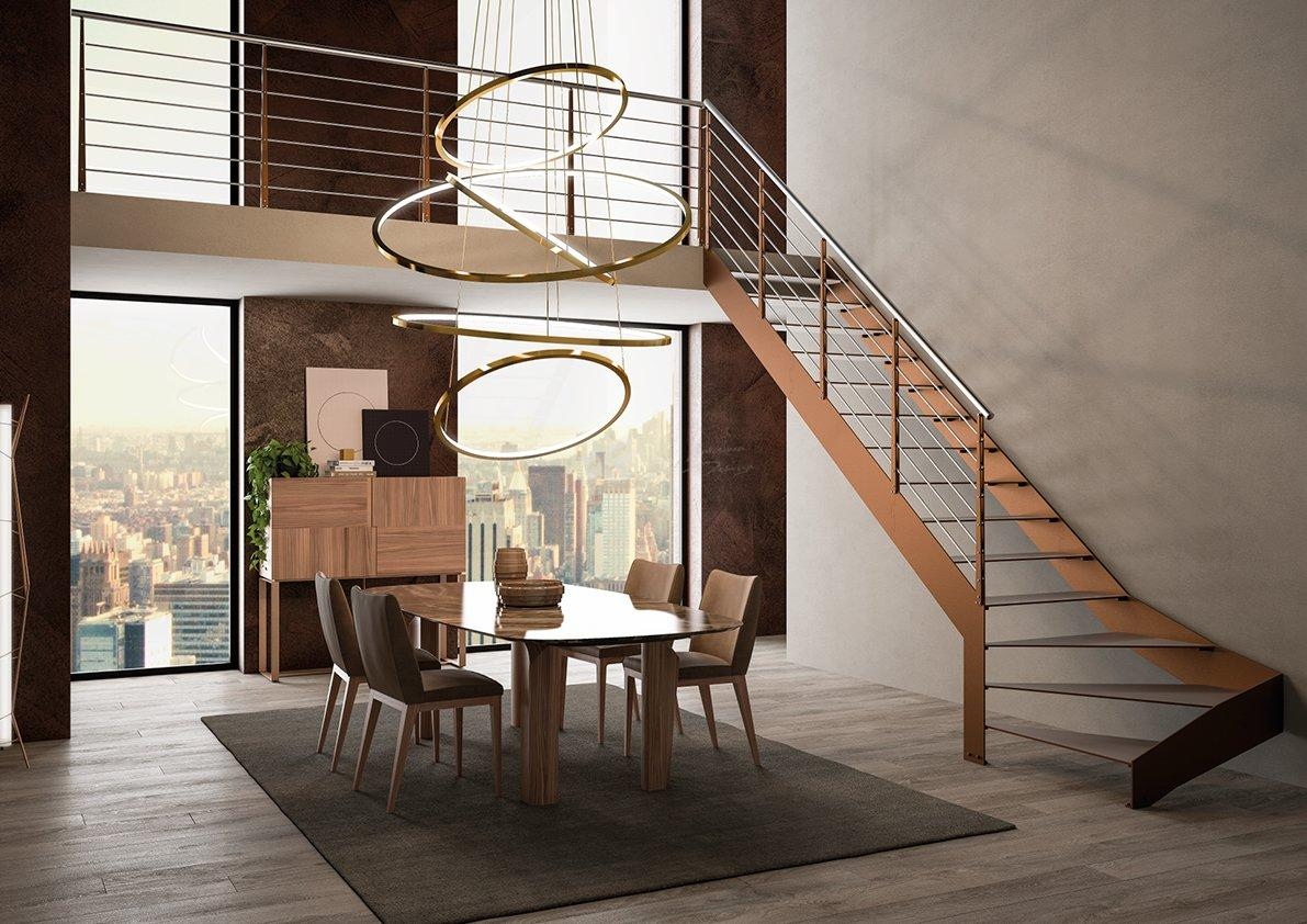 Escalera volada de diseño en Barcelona por RFserveis