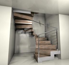 Escalera de caracol cuadrada Rfserveis