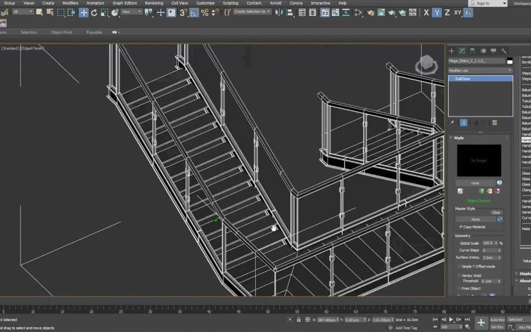 Software 3D para diseños de barandillas de cristal